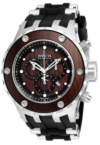 INVICTA black and silver Invicta Subaqua Men 52mm Case Steel, Black Stainless Steel, Polyurethane Strap Brown Dial Quartz Watch 21720 w/ Cap IN968AC0FP4ASG_1