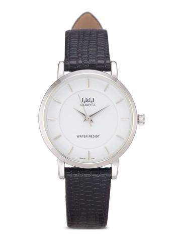 Q&Q Q945J301Y 壓紋仿皮手錶, 錶類, 其它錶esprit地址帶