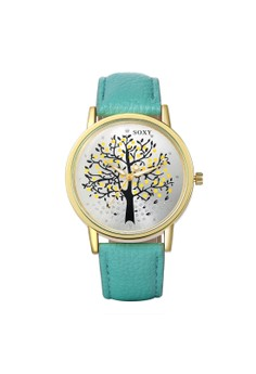 WH0010L Stylish Three Shape Quartz Casual Women Watch Stainless Steel Metal Round Dial