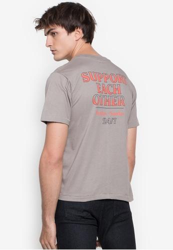 Artwork grey Support Each Other T-Shirt 6A944AA5A1E777GS_1