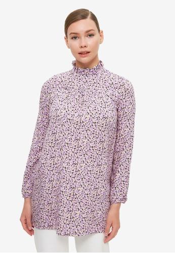 Trendyol 紫色 高領 Tunic上衣 B7647AAEB69711GS_1