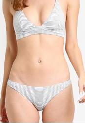 Mango white and multi Striped Bikini Bottom MA193US17HFAMY_1