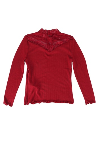 ONLY red Aya Long Sleeves High Neck Top 3FC35KA9C3BC46GS_1