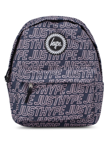 Just Hype navy Sporting Outline Backpack 2E224AC2376532GS_1