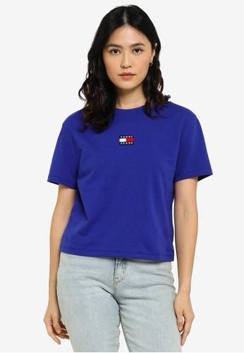 Tommy Hilfiger blue Badge Crew Neck T-Shirt - Tommy Jeans D7570AA7167D69GS_1