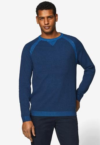 ESPRIT 海軍藍色 長袖T恤 93699AAE4DB5AFGS_1