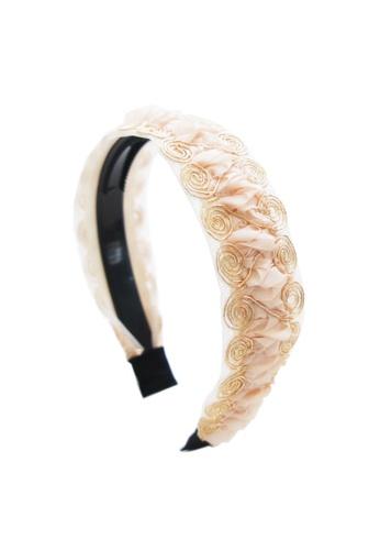 Kings Collection pink Korean Style Pleated Headband (HA20207) 98F01AC1033010GS_1