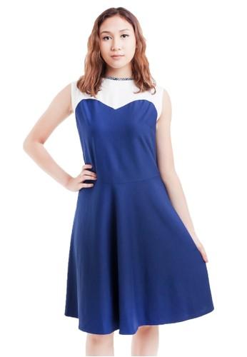 Gi & Ne (Giane) Official blue Chelle Flare A Line Summer Casual Semiformal Office Dress E2D47AAEBD535FGS_1