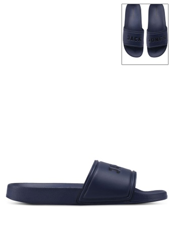 Jack & Jones navy Larry Pool Sliders C778FSHE856E05GS_1