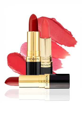 Revlon red and pink Revlon Super Lustrous™ Lipstick - Best-seller Matte Collection 4.2g * 3 Ea RE737BE04CYHSG_1