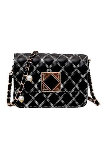 Lara black Women's Lingge Sling Bag F6504AC551C43BGS_1