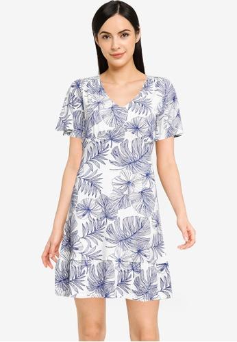 Desigual white Short Flowing Dress 397D9AA401943EGS_1