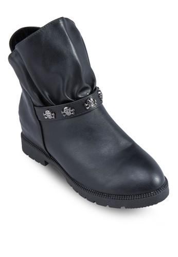 精緻esprit地址飾帶時尚踝靴, 女鞋, 鞋