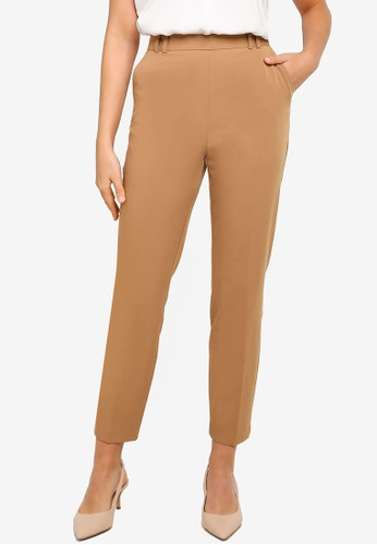 Dorothy Perkins brown Camel Tailored Trousers 554C7AA59B91ECGS_1