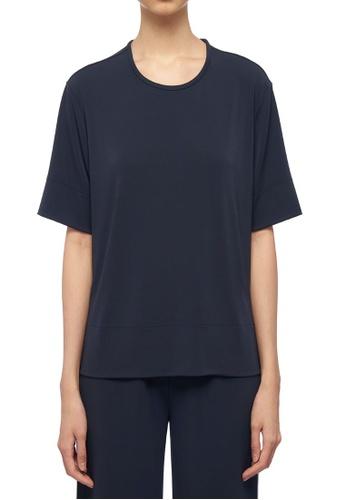 ck Calvin Klein 海軍藍色 人造纖維針織上衣 853A3AAC3691BEGS_1