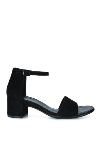 ECCO black Shape 35 Block Sandal Black Velveteen 5112FSH6385B5CGS_1