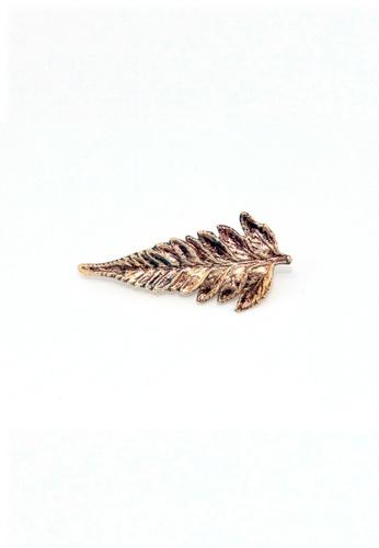 Paulini gold Brooch Fern 2 (G) PA011AC64DBNMY_1
