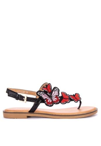 Primadonna black Flats Strappy Sandals 72869SH72889F8GS_1