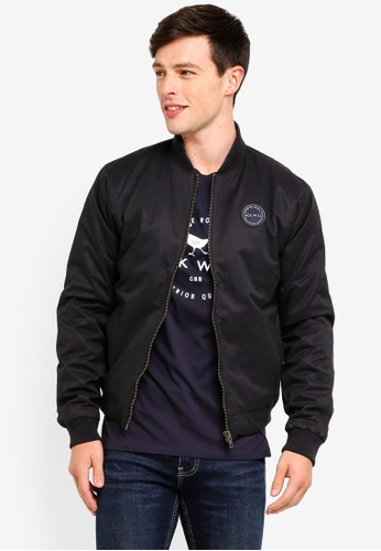 Jack Wills 黑色 Rame Padded Bomber Jacket AF49CAA2A1C329GS_1