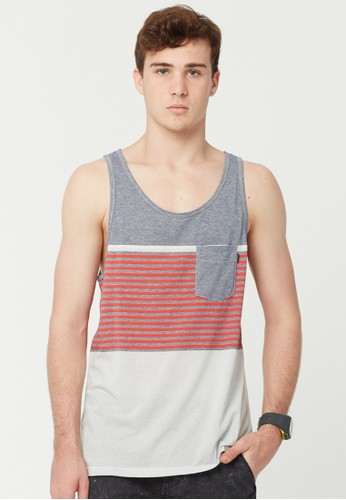 Rip Curl Raptures Stripe Men Tank - Navy