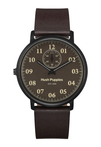 Hush Puppies Watches brown Hush Puppies 1958 Men's Watch HP 3854M.2517 Dark Brown Leather HU334AC0UHKGID_1
