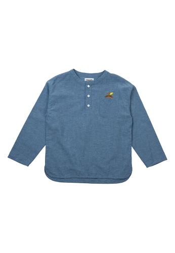 Vauva blue Vauva Girls Nut Linen Casual Shirt - Blue E0DDDKAB38F3BEGS_1