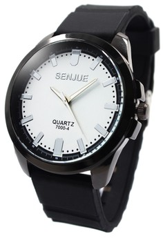 Senjue Cyer Men's Rubber Strap Watch Senjue007-7000-4