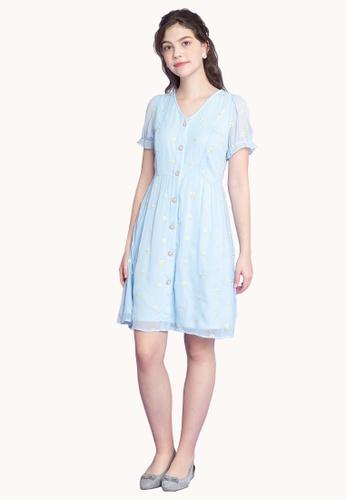 L'zzie blue LZZIE DARLENE DRESS - LIGHT BLUE 85EFFAACCF9F1BGS_1