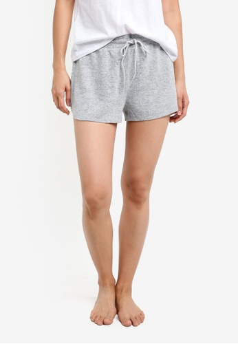 Cotton On Body grey Super Soft Curved Shorts CO561AA0S3ENMY_1