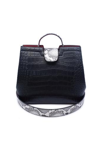 BELLE LIZ black Black PU Ladies Gorgeous Ladies Handbag BB33FAC2809679GS_1