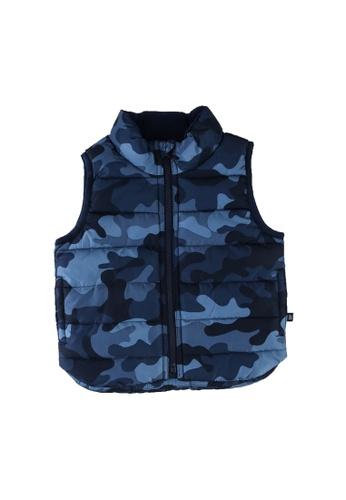 GAP blue V-puffer Vest 2C1ADKAFF0D7FAGS_1