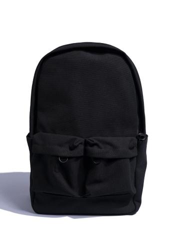Todak black Todak Canvas Backpack 892B6AC0631A4FGS_1