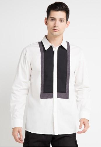 (X) S.M.L white Pacho Shirt XS330AA0WE95ID_1