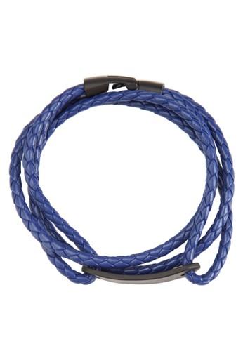 層次纏繞編織仿皮手環, esprit 鞋飾品配件, 手環