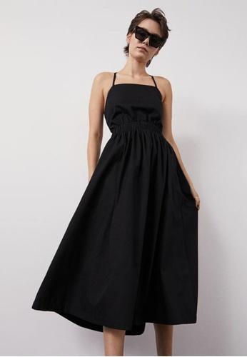 H&M black Back-Laced Dress 32AE9AADE2BEBFGS_1