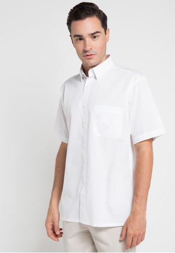 Valino White SHORT SLEEVES MILAN SHIRT VA583AA0UBPWID 1