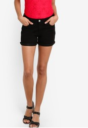Dorothy Perkins black Black Denim Shorts DO816AA97DFYMY_1