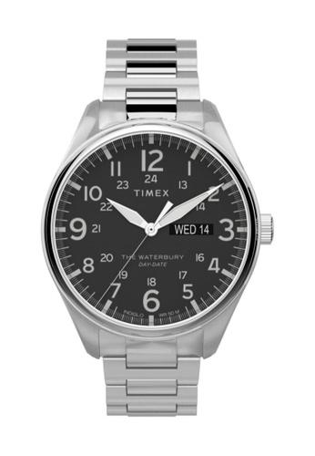 Timex silver Timex Waterbury Traditional 42mm - Silver-Tone Case & Bracelet (TW2T71100) DD69BAC903DBC9GS_1