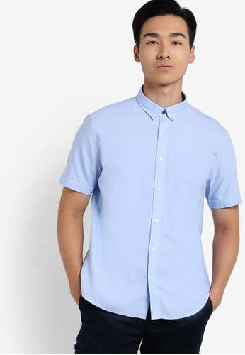 G2000 blue Oxford Short Sleeve Shirt G2754AA42YTTMY_1