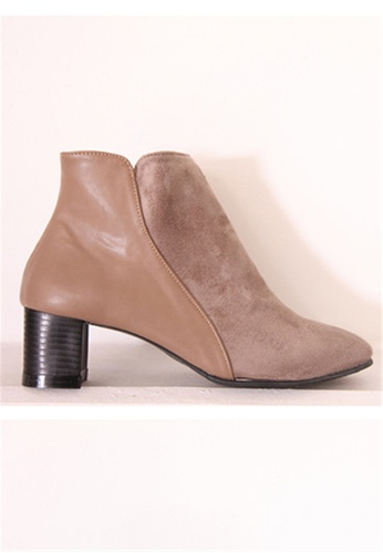 Crystal Korea Fashion beige Korean Made Suede Rough With Boots (BIG Size) 83159SH8C169EFGS_1