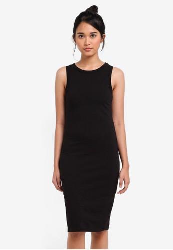 Cotton On black Lena Midi Dress 563F3AA589229CGS_1