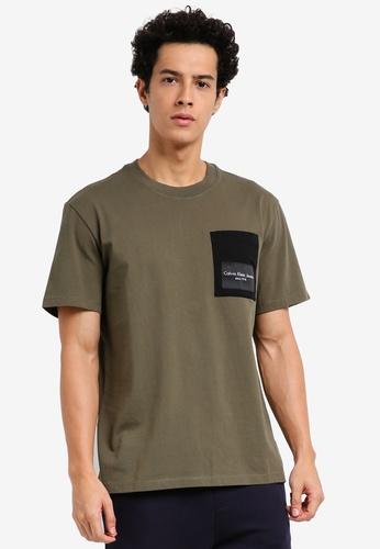 Calvin Klein green Relaxed Crew Neck Short Sleeve T-Shirt - Calvin Klein Jeans B6319AAF4CCEC5GS_1