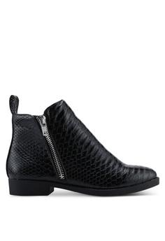 5848e2fe666dc Rubi black Jesinta Square Toe Zip Boots 0A9E5SHA3623B4GS_1