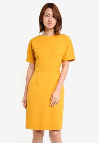 ZALORA yellow Pencil Sheath Dress C7E7BAA5D5CB39GS_1