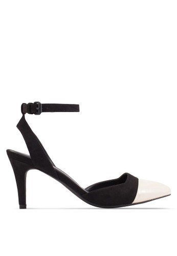 ZALORA black and beige Toe Cap Heel Pumps 501E6SH92BD962GS_1