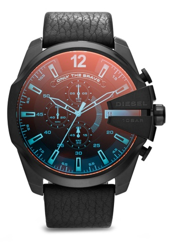 Diesel black and multi Diesel Mega Chief Watch DZ4323 DI095AC75MIQSG_1