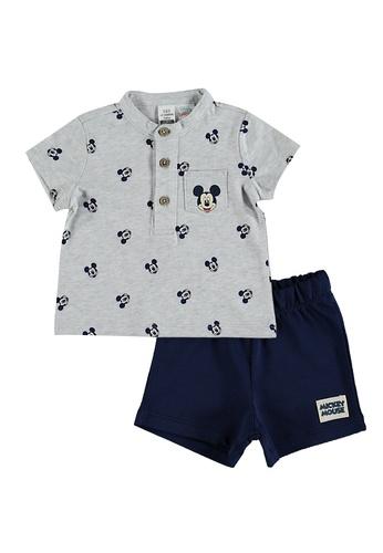 LC Waikiki grey Baby Boy's? Mickey Mouse Printed Set 28FF6KA41944C1GS_1