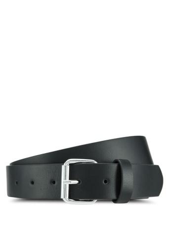 MANGO Man black Key Holder Leather Belt 2BBB3ACBD98CF7GS_1