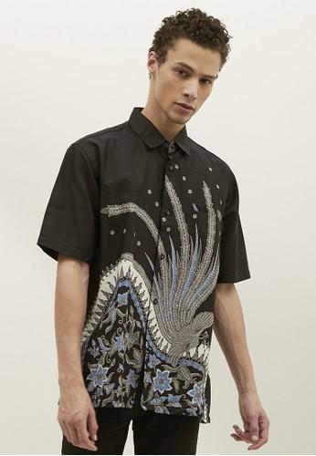 Woffi black Kigali Cotton Print Batik Shirt DF4E1AA61F0207GS_1