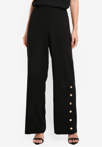 Lipsy black Button Side Detail Trousers 84274AA6D70D57GS_1